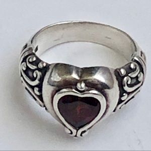 Brighton Silver and Red Heart Ring❤️ SZ 10